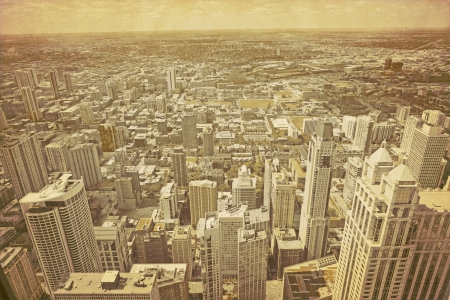 city view: Old Chicago Stock Photo