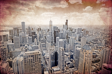 Chicago - Old Postcard Design Stock Photo - 15948888