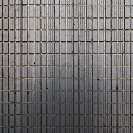 Metal Wall as Interior Design  Stock Photo