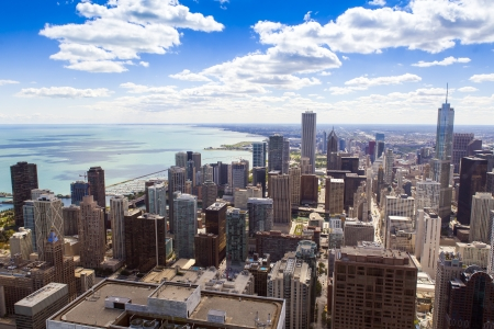 Chicago Downtown Aerial View photo