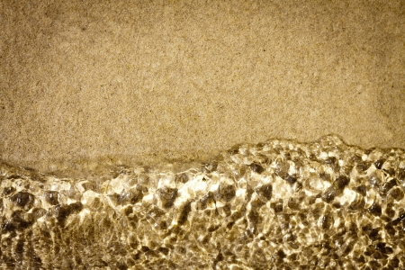 chillout: Sand with water background and texture Stock Photo