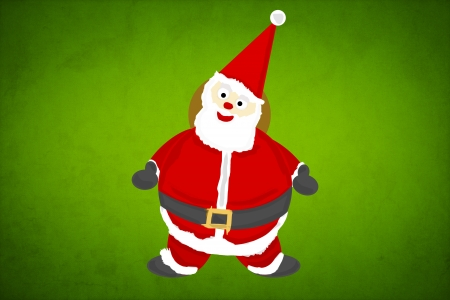 Santa Claus Paper Craft Background photo