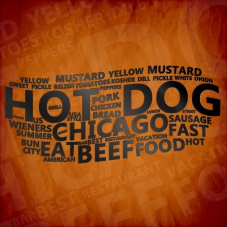 Hot Dog Text Cloud Stock Photo - 17074164