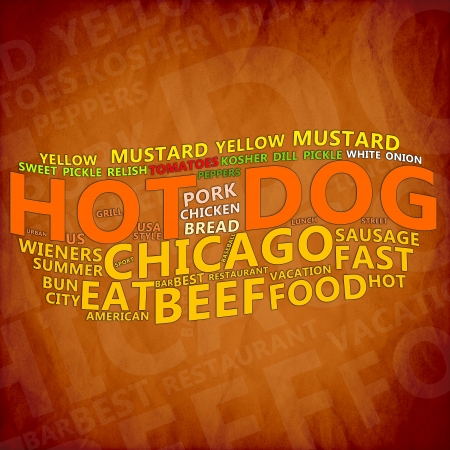 Hot Dog Text Cloud Stock Photo - 17074023