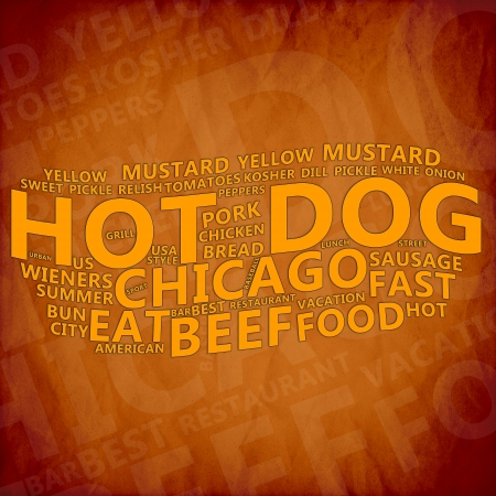 Hot Dog Text Cloud Stock Photo - 17074021