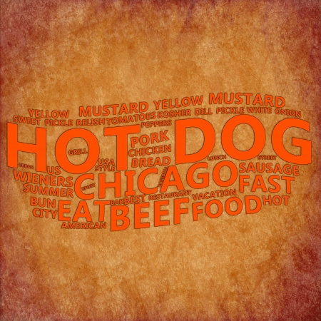 Hot Dog Text Cloud  photo