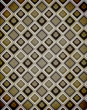 irish culture: Shamrock Paper (Vintage Pattern Page) Stock Photo