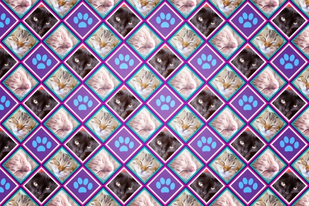 Cats Wallpaper (Vintage Pattern Page)  photo
