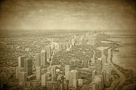 Old Chicago - Vintage Design  Stock Photo