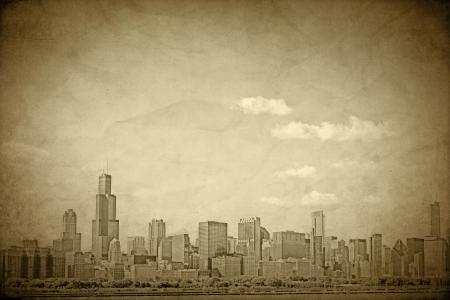 Old Chicago - Vintage Design  Stock Photo