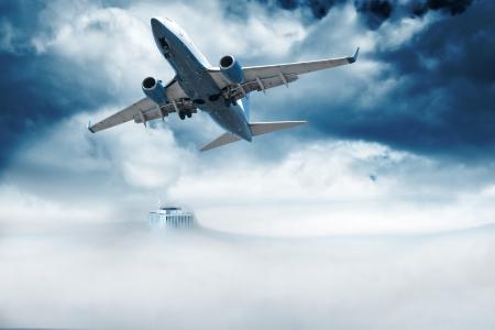 jetliner: Air Travel Stock Photo