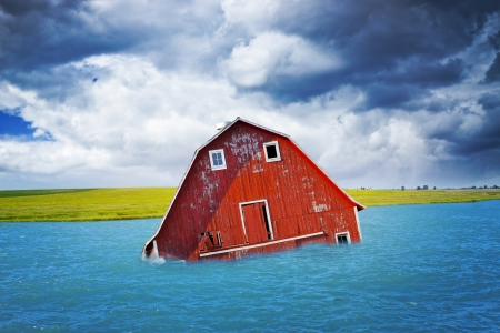 Flood on American Countryside Stock Photo - 18217591