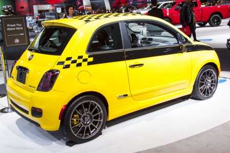 CHICAGO - FEB 12: Fiat 500 on display at the 2012 Chicago Auto Show on February 12, 2012 in Chicago, Illinois.