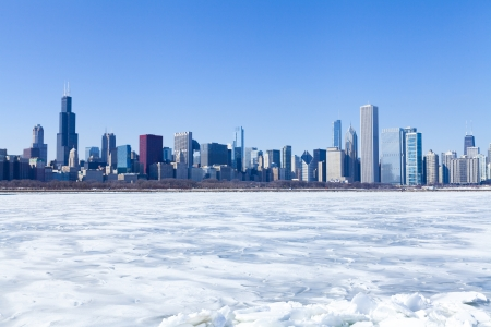 Chicago Panorama in Winter Stock Photo - 18296505