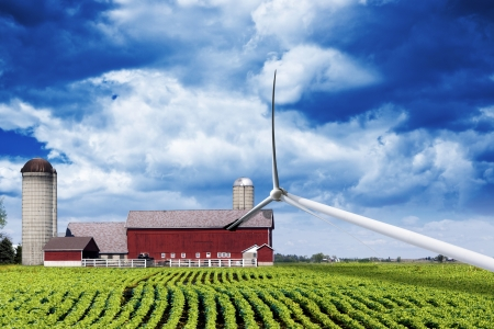 windturbine: American Countryside After Storm