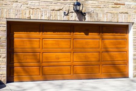 Garage Door Stockfoto