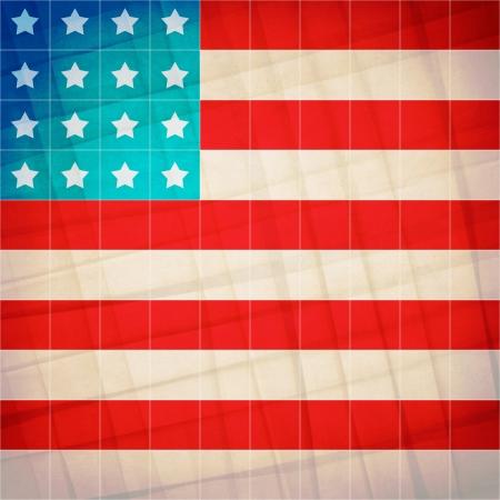 Retro Grunge America Four July Wallpaper Pattern  photo
