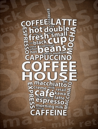 Coffee House Retro Ad Stock Photo - 19302899