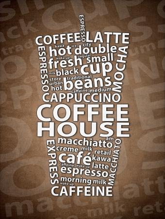 Coffee House Retro Ad Stock Photo - 19302899