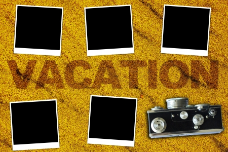Vacations Background (pictures with empty space for your text)  photo