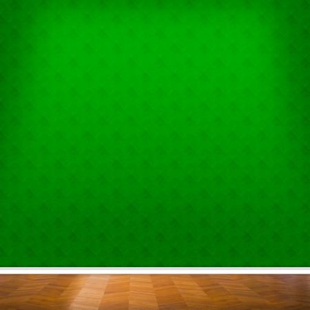 the green background: Old Interior Design With Vintage Grunge Wallpaper