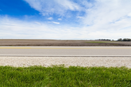 Amerikaanse Country Road Side View Stockfoto