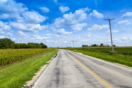 road surface: Country Road Stock Photo