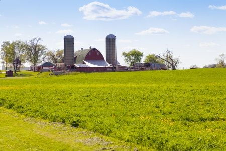 traditional culture: Traditional American Farm With Blue Sky