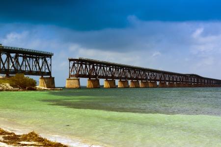 end of a long day: Old Bridge In Bahia Honda, Florida