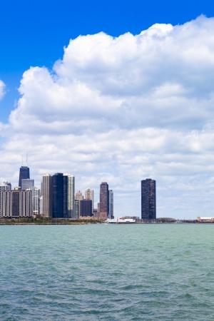 Chicago Skyline Panorama With Cloudy Sky photo