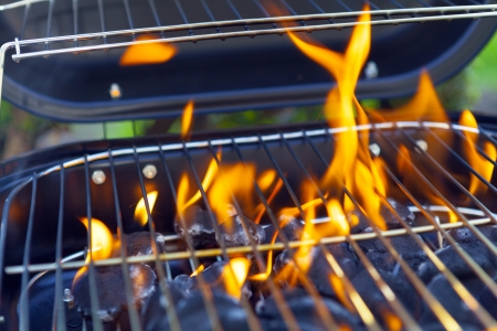 House Grill With Big Flame photo