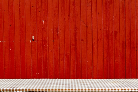 red wall: Table Stock Photo