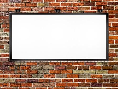 Urban Billboard on Brick Wall photo