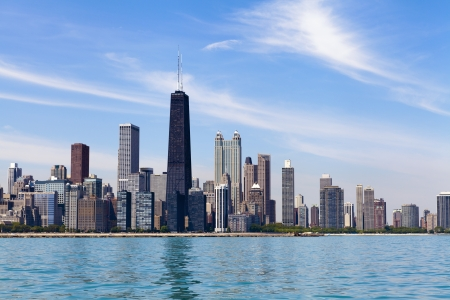 Chicago Skyline Stok Fotoğraf
