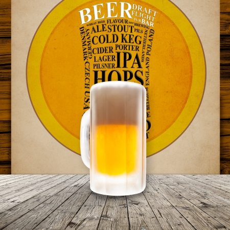Fresh cold beer given in chilled pint Stock Photo - 21205063
