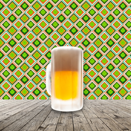 Fresh cold beer given in chilled pint Stock Photo - 21205430