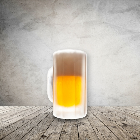 Fresh cold beer given in chilled pint photo