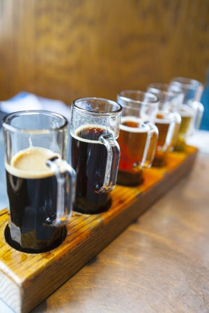 Beer Vuelo Foto de archivo - 21205399