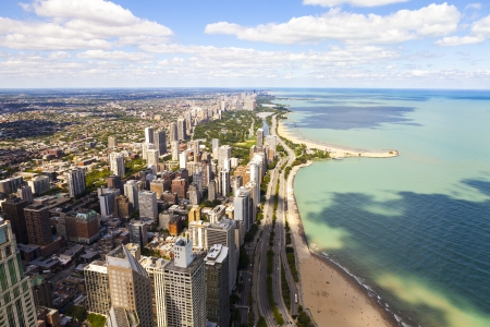 commercial real estate: Chicago Lake Shore Drive Aerial View