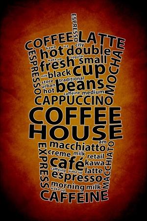 Retro Coffee Ad Background Stock Photo - 21243833