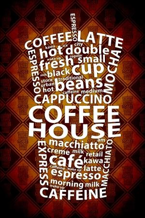 keywords: Retro Coffee Ad Background
