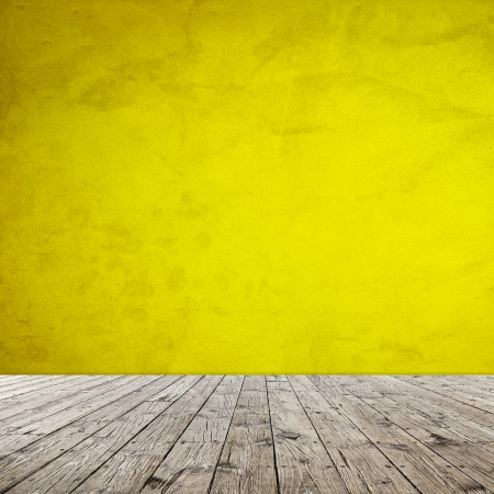 Interior Design With Old Grunge Wallpaper