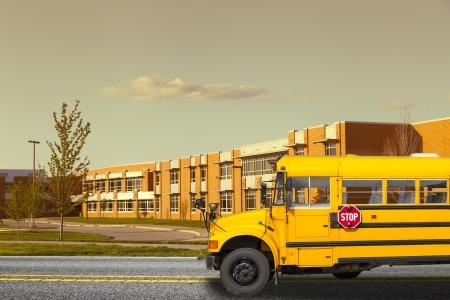 学校のバス 写真素材