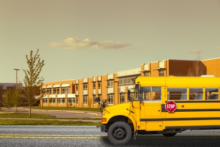 side views: School Bus