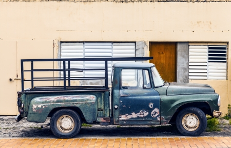 rusty background: Old Pick Up Truck Stock Photo