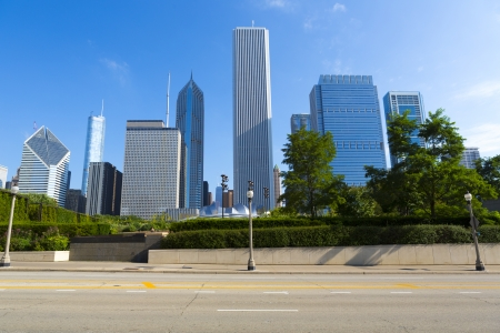 시카고 도로 측면보기