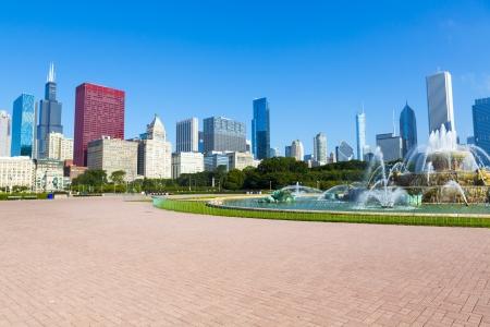 ダウンタウン シカゴの噴水 写真素材 - 22205489