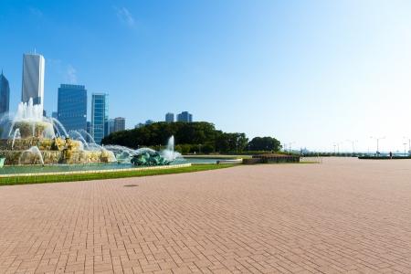 emigranti: fontana nel centro di Chicago