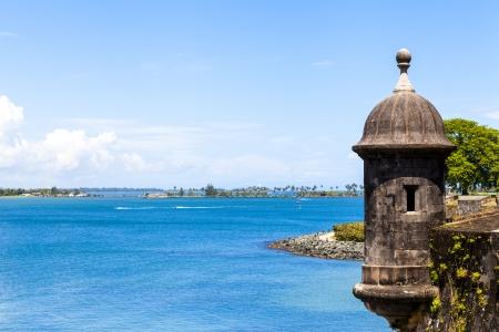 juan: Watch tower in El Morro castle at old San Juan, Puerto Rico.