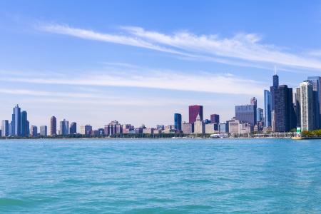 Chicago Skyline With Blue Clear Sky photo